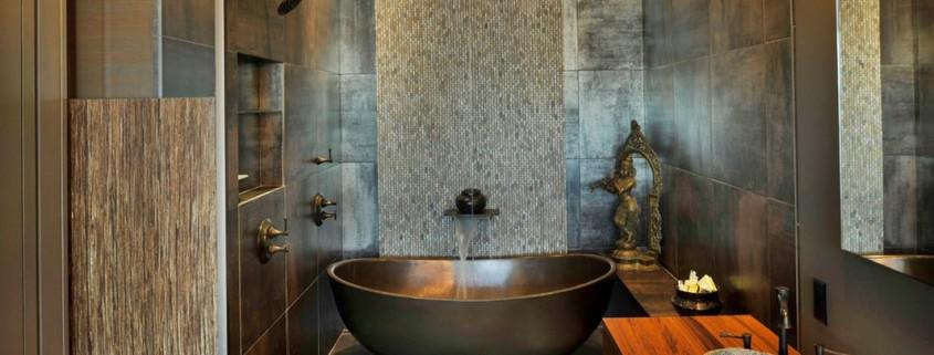 Уютная ванная комната в восточном стиле