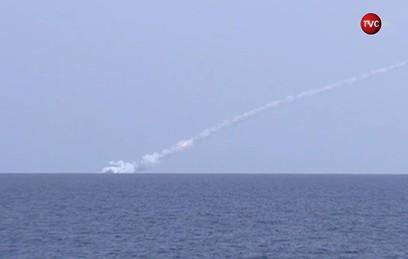 Видео ударов российских подлодок по объектам ИГ в Сирии
