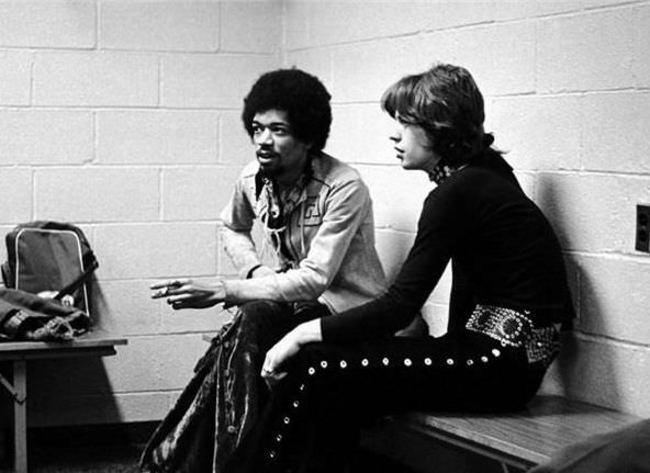 Джими Хендрикс и Мик Джаггер, 1969 год