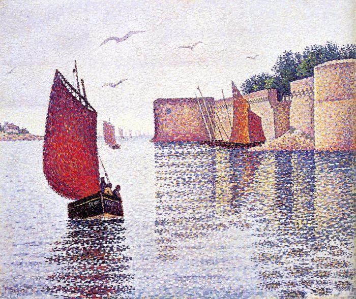 Конкарно. Лодка Сардины, 1891. Автор: Поль Синьяк.