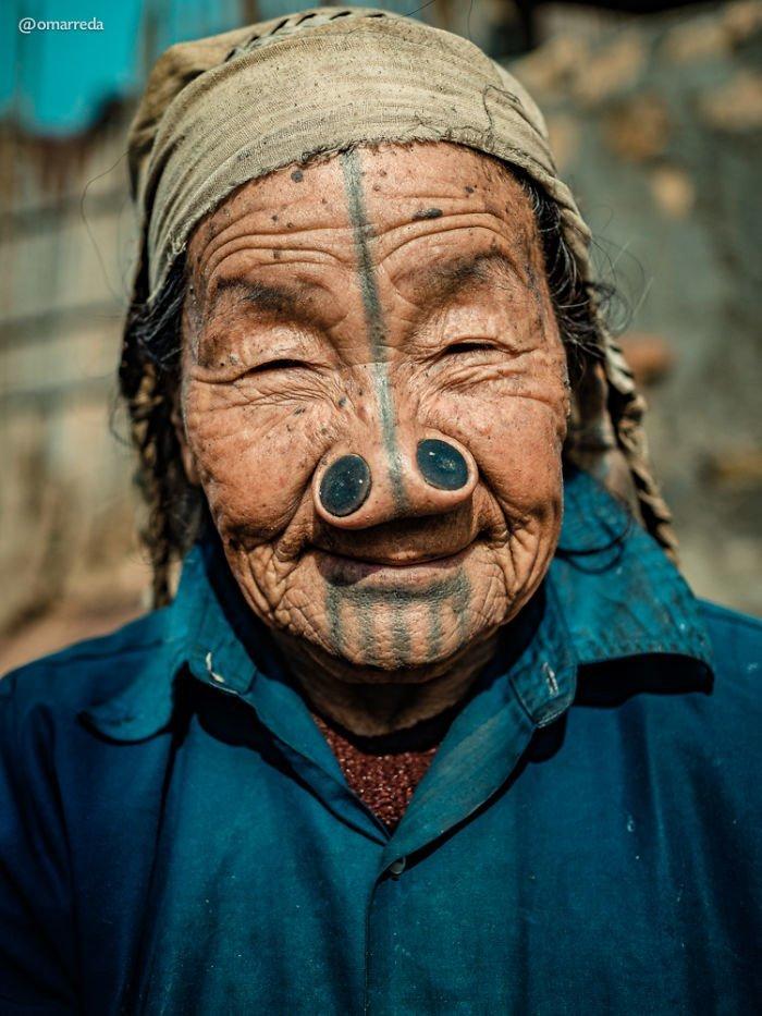 8. апатани, женщина, индия, народ, портрет, традиция, фотография, фотомир