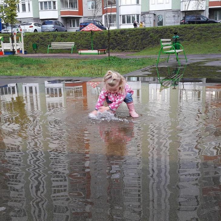 Никто так не радуется осенней погоде, как дети дети, прикол, родители, юмор