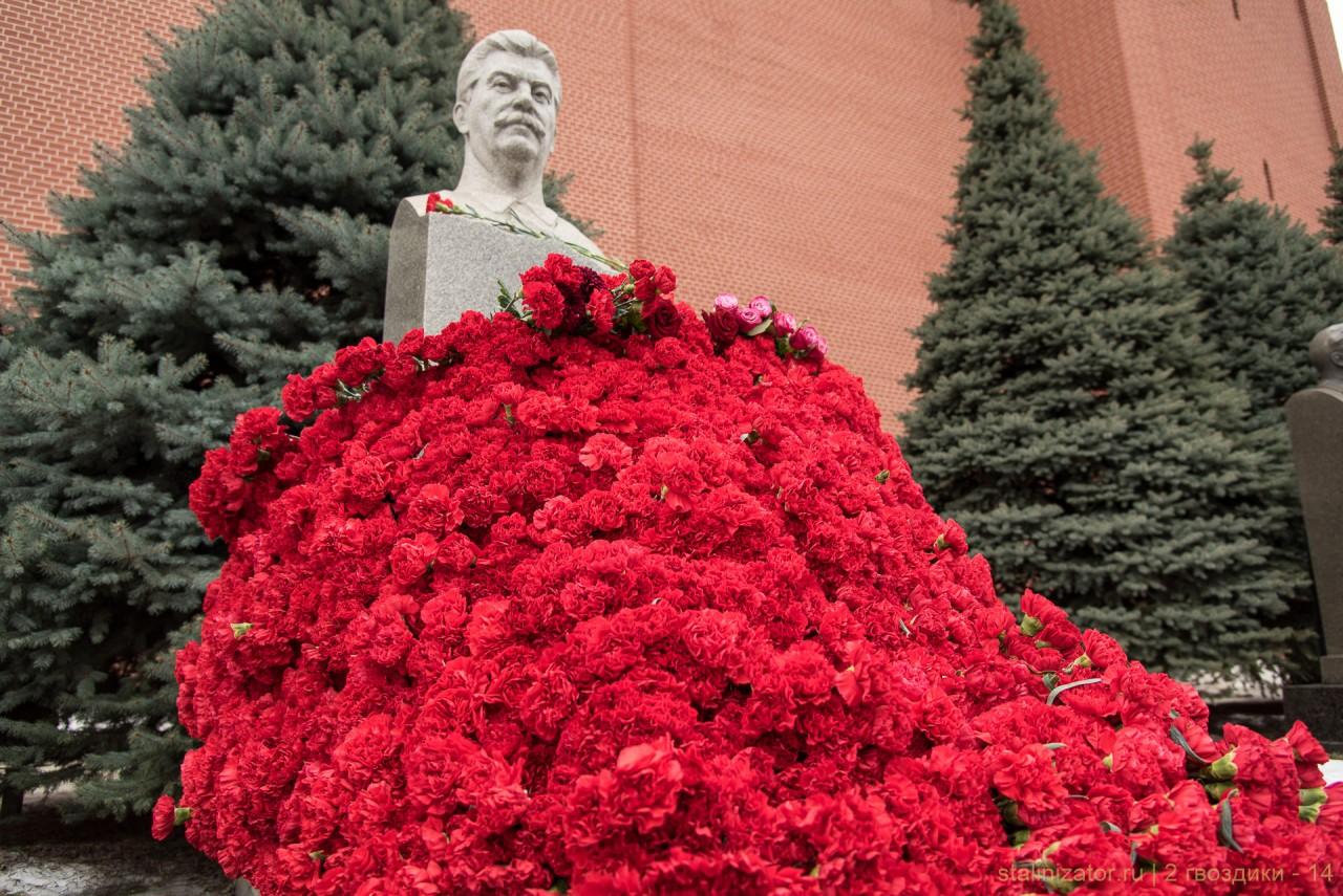 Две гвоздики товарищу Сталину. 5 марта 2018 года.