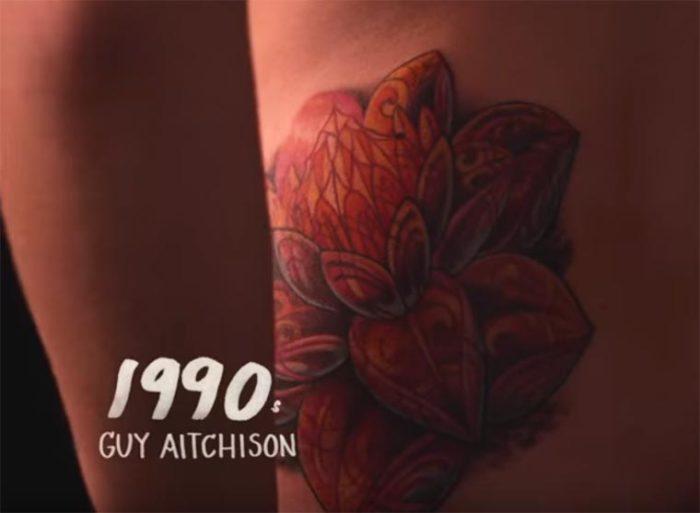 В девяностые годы двадцатого века татуировщик Guy Aitchison (Гаю Айчисону) создает сюрреалистичные нательные рисунки, которые просто завораживают.
