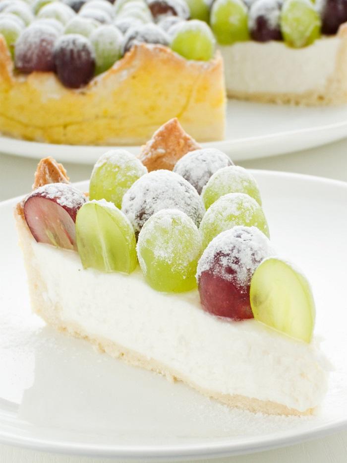 пирог с виноградом на кефире