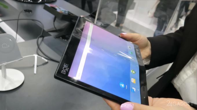 Китайцы показали свой арсенал гибких дисплеев на выставке SID 2018 (3 фото + 2 видео)
