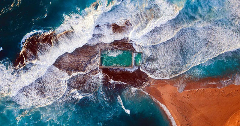Сиднейские пляжи с высоты