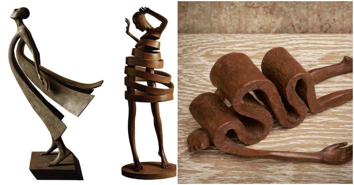 Сокрушающее человеческое отчаяние передают сюрреалистичные бронзовые статуи талантливого испанского скульптора