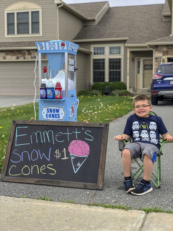 Мальчик решил сам заработать на велосипед