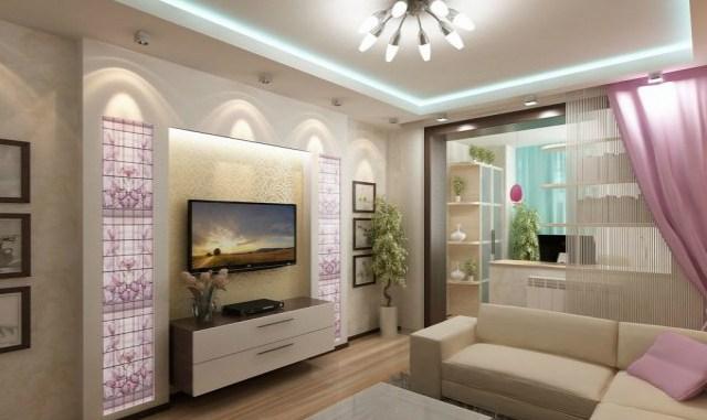 Телевизор в интерьере гостин…