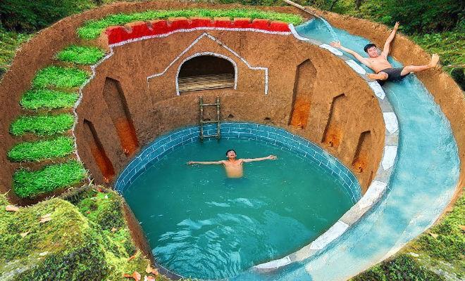 Скрытое убежище в джунглях: мужчина ушел от всех и вырыл яму с бассейном Культура