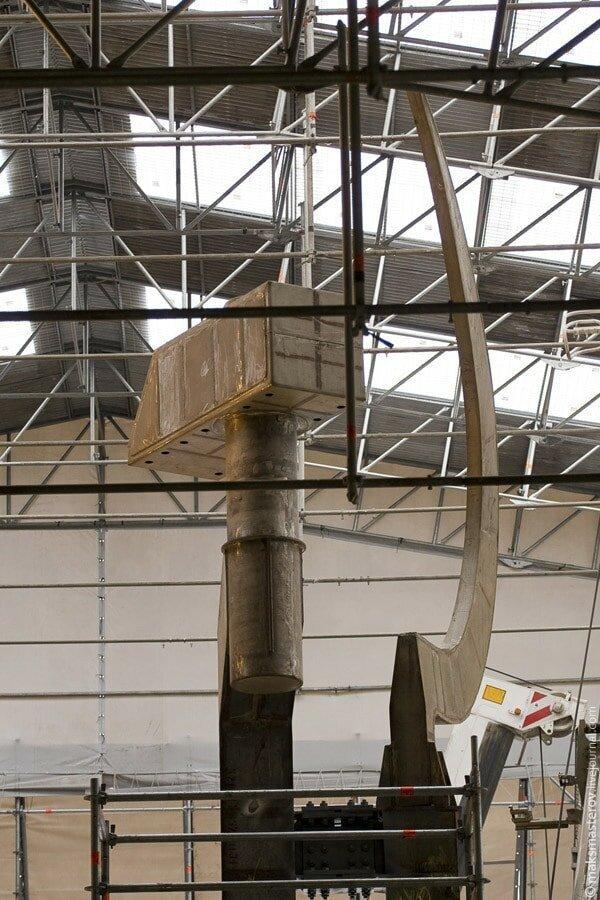 Серп и молот Рабочий и колхозница, внутри, интересно, монумент, статуя