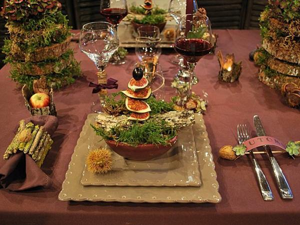 Каштаны, инжир и яблоки: осенняя сервировка стола в стиле французского эко