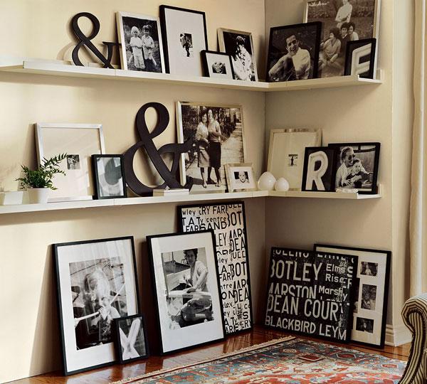 Оформления стен фотографиями