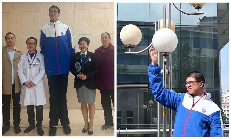 Мне сверху видно все! 14-летний китаец попал в Книгу рекордов Гиннесса, благодаря огромному росту
