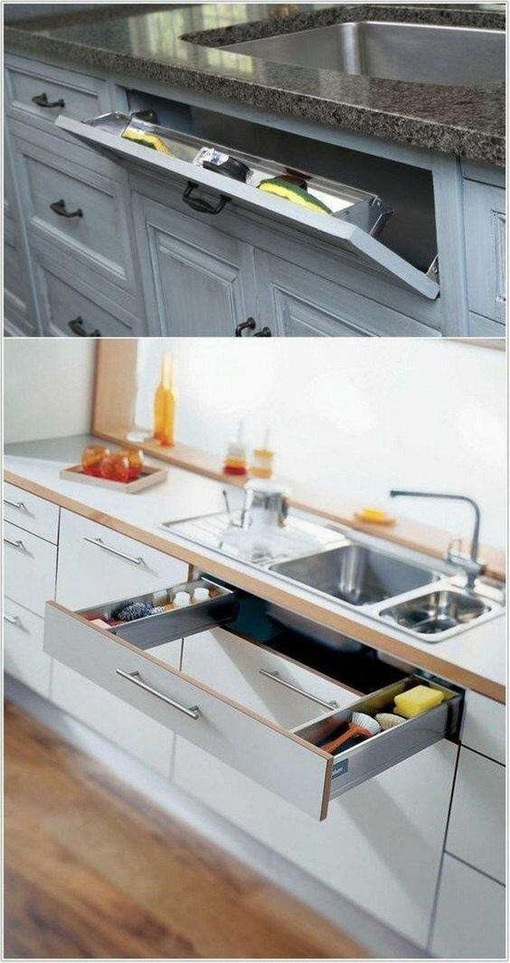10 бесподобных идей, которые решат проблему хранения на маленькой кухне идеи для дома,организация пространства,системы хранения