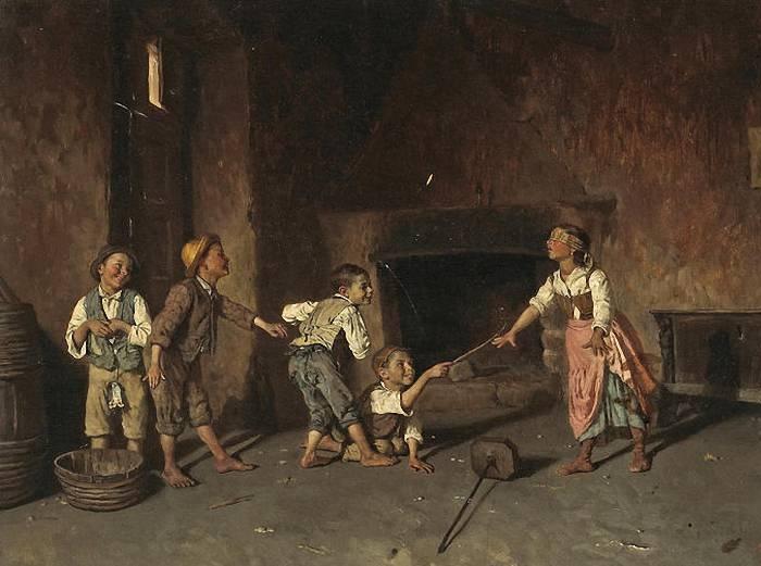 Джузеппе Константини (итальянец, 1843-1893). «Blindmans Buff».