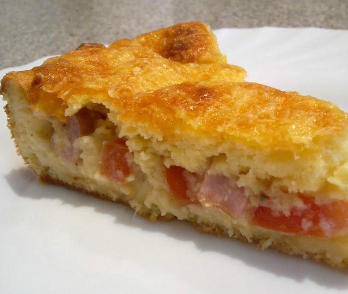 Заливной пирог на картофельном тесте