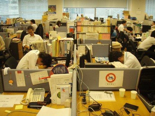Инэмури - японское искусство сна на работе