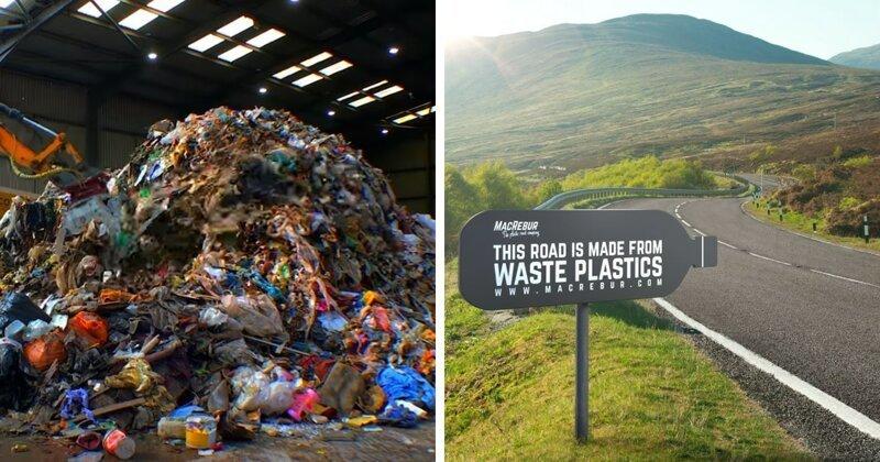 Шотландская компания делает дорожное покрытие из пластиковых отходов