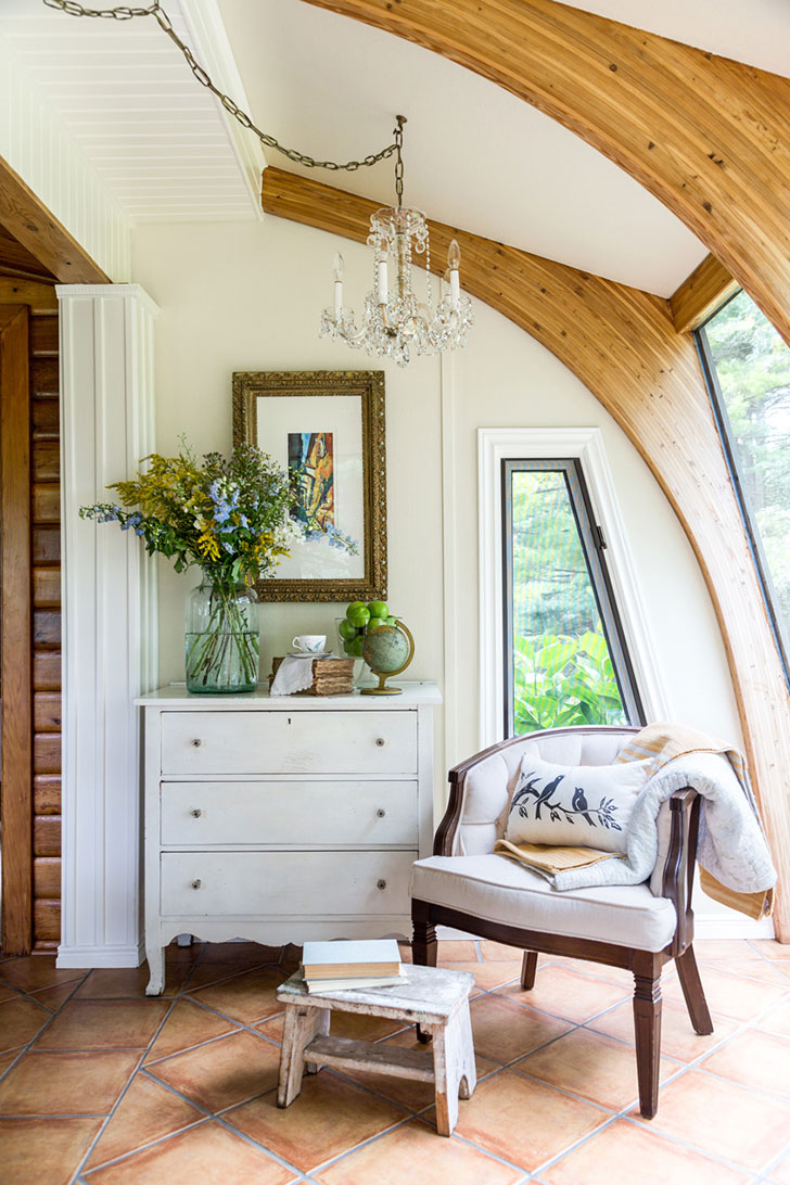 Уютный дом из бруса в США