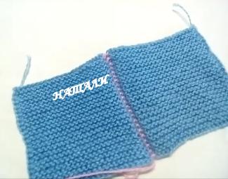 Как соединить два вязанфх полотна крючком