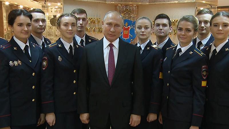 Владимир Путин перечислил главные качества сотрудника полиции