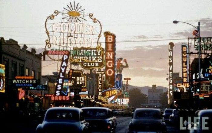 Лас-Вегас в 1955 году