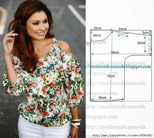 Простые выкройки - интересные варианты красивых летних блузок