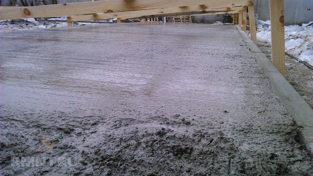 замерзший бетон фото