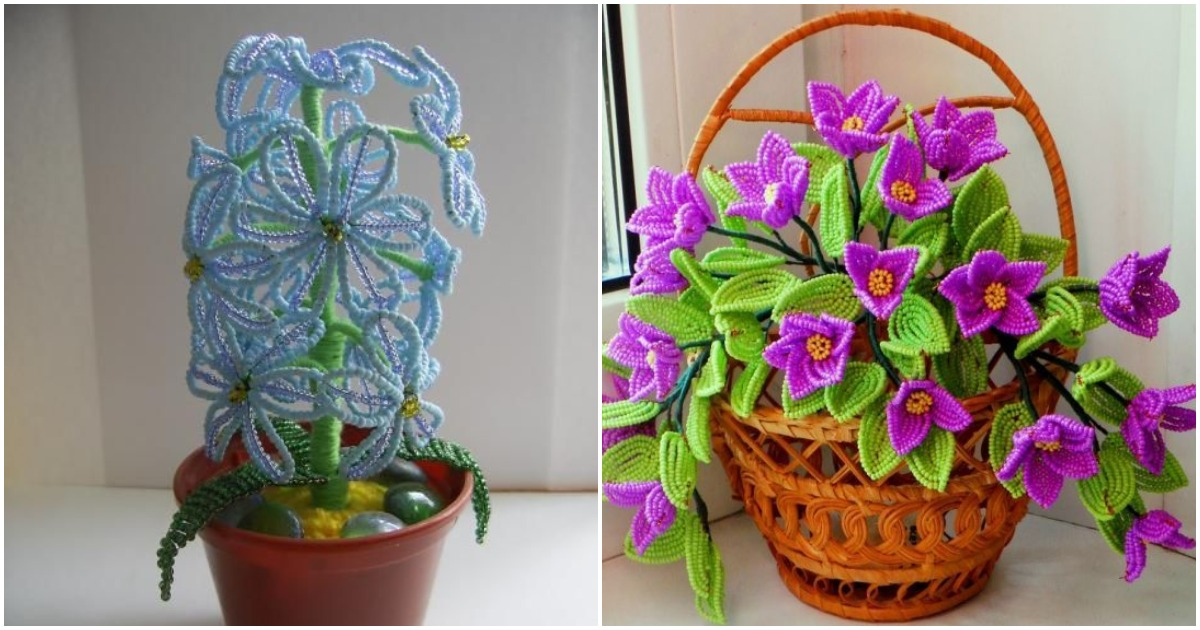 Искусство для терпеливых: интересные схемы плетения цветов из бисера