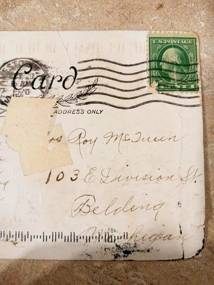 Женщина получила открытку, отправленную еще 100 лет назад Культура