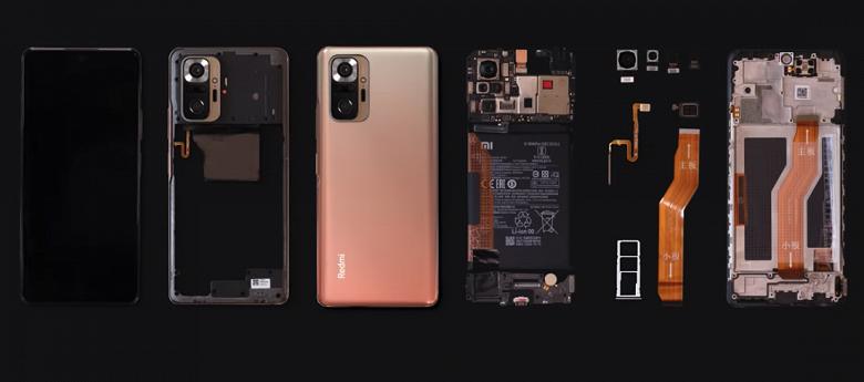 Xiaomi показала «внутренний мир» Redmi Note 10 Pro: официальная разборка новости,смартфон,статья,технологии