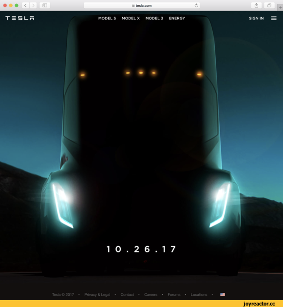 В сети появились фотографии транспортируемого грузовика Tesla