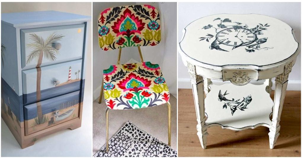 Новые и стильные идеи декупажа мебели