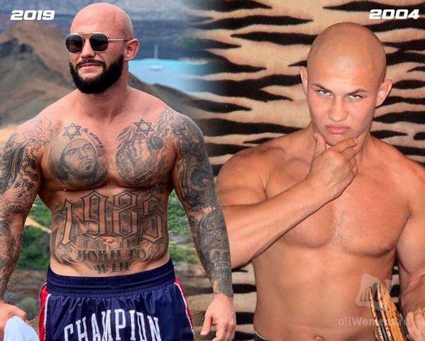 Джиган показал фото 15-летней давности без татуировок и бороды