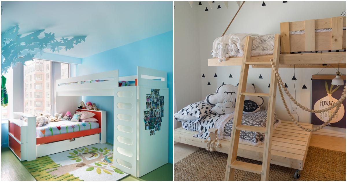 10 идей по обустройству двухъярусной кровати для детей