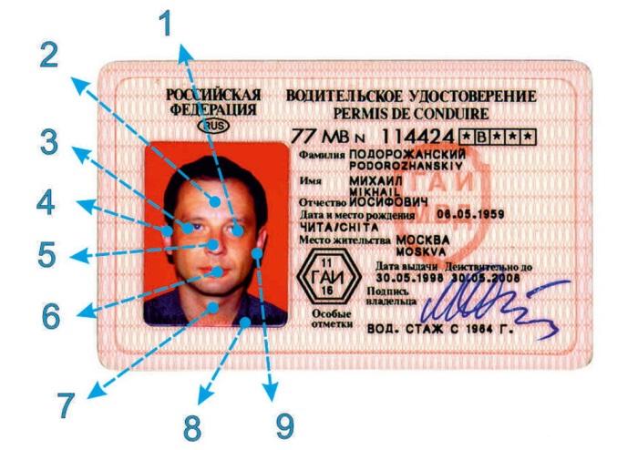 Секретные метки гаишников на водительских правах и их значение