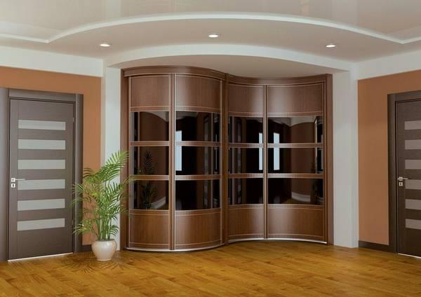 радиусные раздвижные двери для гардеробной, фото 28
