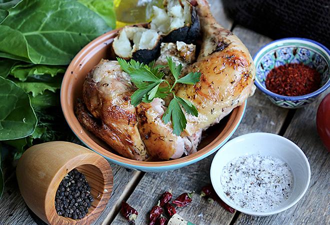 Курица в сметанном маринаде: просто и вкусно