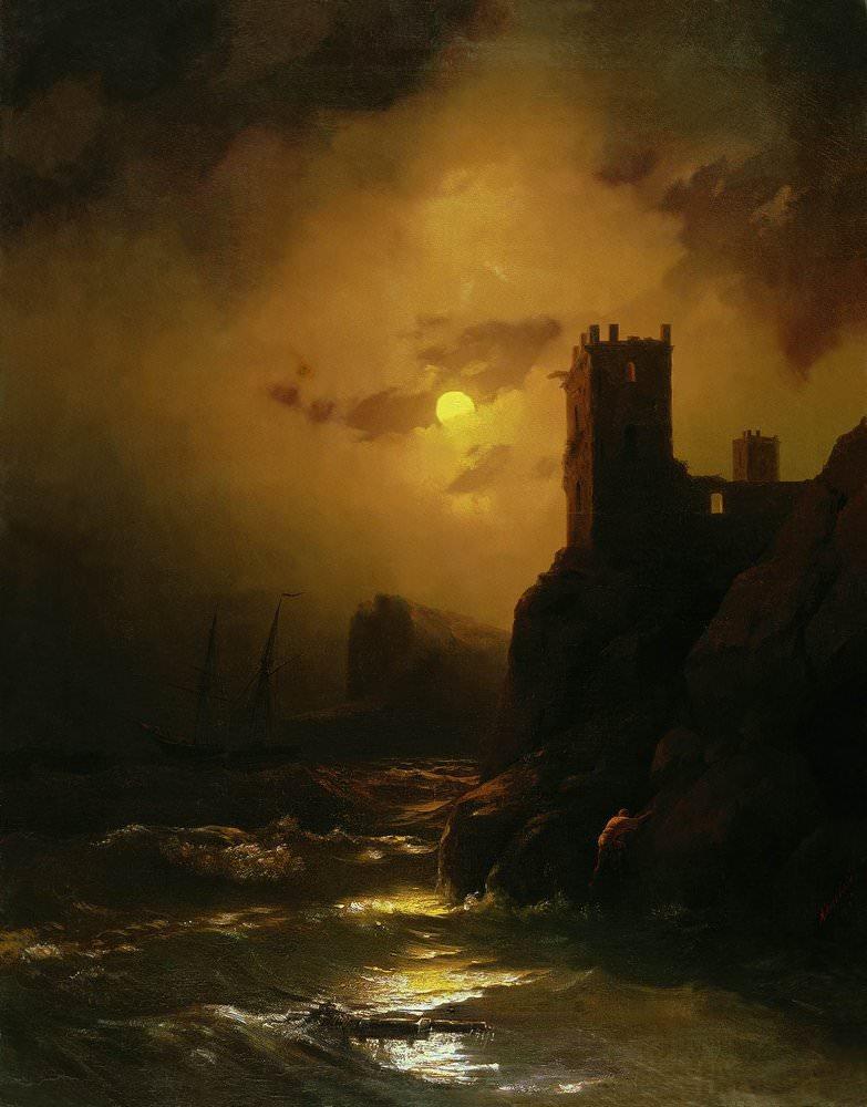Айвазовский. Луна и море