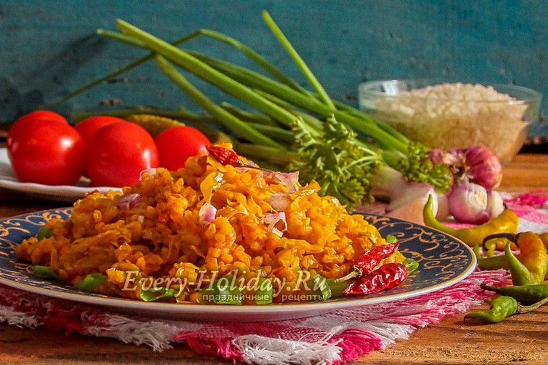 Тушеная КАПУСТА с рисом – постный рецепт