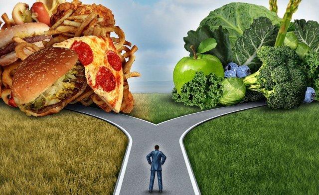 Выбор между жирной и растительной пищей
