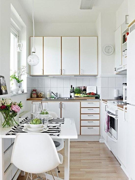 Приемы, при помощи которых легко раскрыть потенциал маленькой кухни