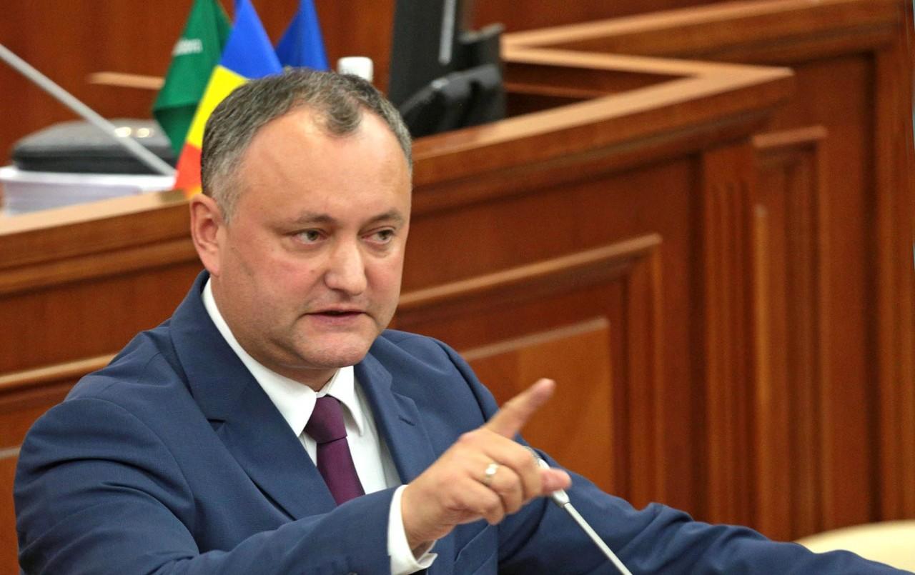 Президента Молдовы отстраняю…