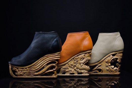 «Драконья» обувь на платформе