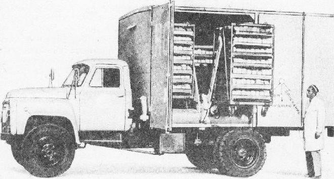 Хлебный фургон на шасси ГАЗ-53А СССР, авто, автомобили, автофургон, грузовик, ретро техника, фургон, хлеб