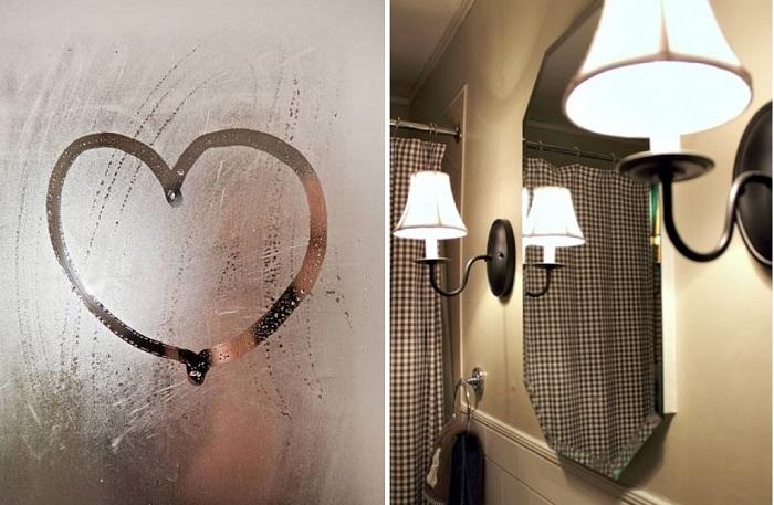 ПАМЯТКА. Как сделать, чтобы зеркало в ванной не запотевало