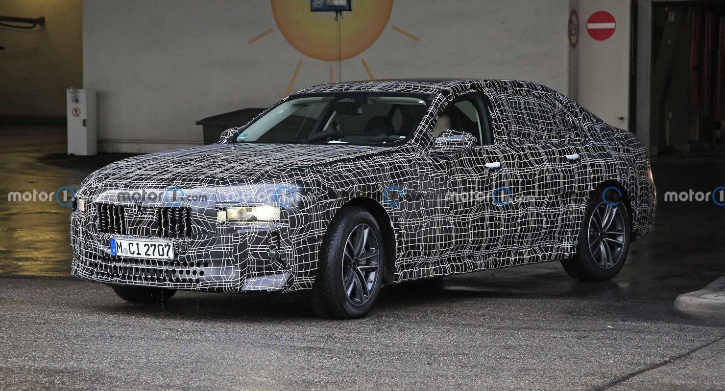Фотошпионы поймали полностью электрическую версию BMW i7 во время ее тестирования Автомобили