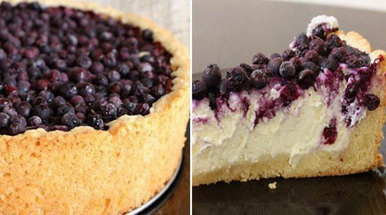 Творожный пирог с ягодами: Вкусный и нежный, просто тает во рту